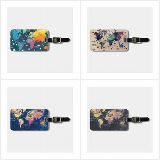 Luggage Tags WORLD MAP