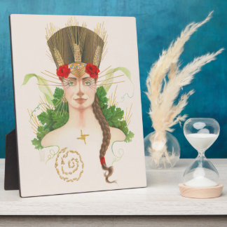 Lughnasadh Goddess Portrait Photo Plaque