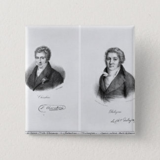 Luigi Cherubini  and Nicolas Marie Dalayrac 15 Cm Square Badge