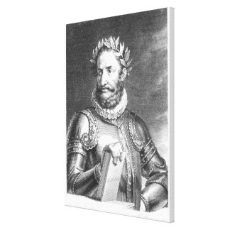 Luiz Vaz de Camoes  engraved by B. Roger Canvas Print