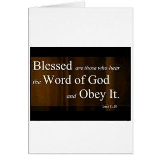 Luke 11:28 greeting card