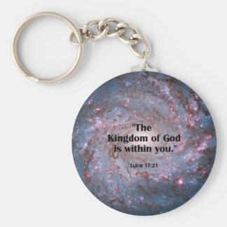 Luke 17:21 basic round button key ring