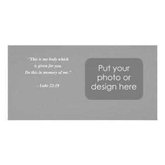 LUKE 22:19 Bible Verse Customized Photo Card