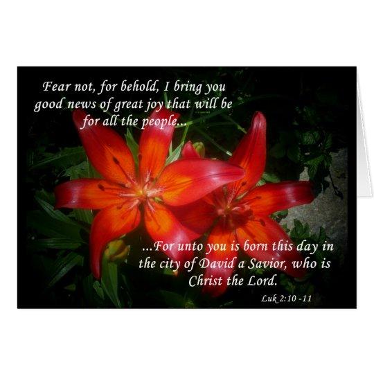 Luke 2:10-11 card