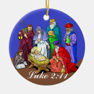 Luke 2:11 Nativity Scene Christmas Ornament