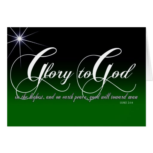 Luke 2:14 Christmas Card