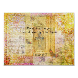 Luke 6:31  Do to others BIBLE VERSE Poster