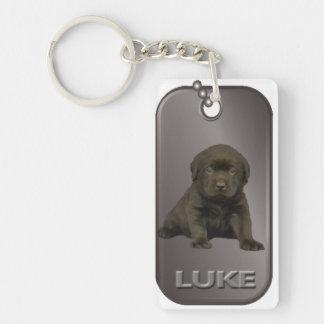 Luke Dog Tag Keychain