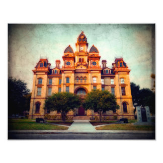 Luling Courthouse in Rural Texas Photo Print