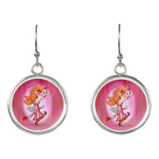 LULU ANGEL CARTOON Drop Earrings