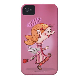 LULU ANGEL CUTE CARTOON iPhone 4 iPhone 4 Case-Mate Case