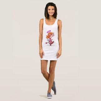 LULU ANGEL SPORT SHIRT, Women's Jersey Tank Dress