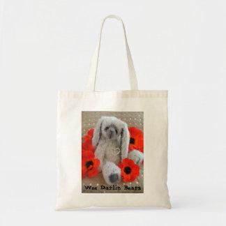 Lulu Lovebunny, Wee Darlin Bears Tote Bag