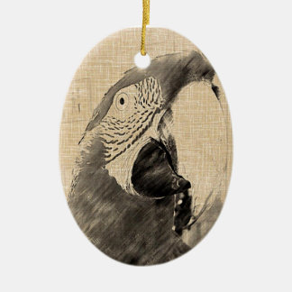 Lulu Macaw Sketch Christmas Ornament
