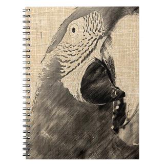 Lulu Macaw Sketch Spiral Notebook