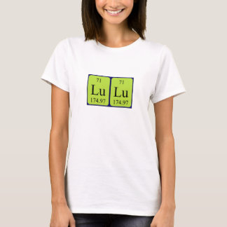 Lulu periodic table name shirt