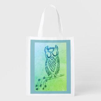 Lulu the Owl Reusable Grocery Bag