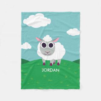 Lulu the Sheep Fleece Blanket