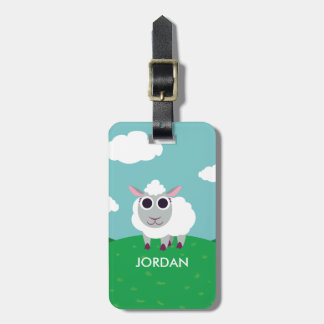 Lulu the Sheep Luggage Tag