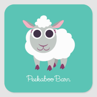 Lulu the Sheep Square Sticker