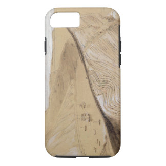 Lulworth Cove (w/c, gouache and graphite on beige iPhone 8/7 Case