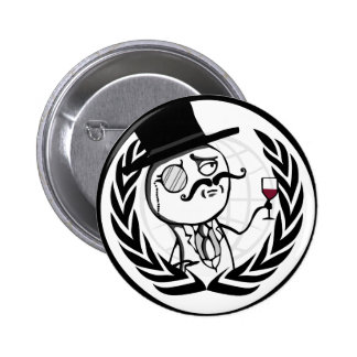 LulzSec Anonymous Logo 6 Cm Round Badge