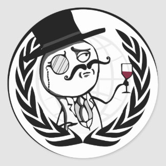 LulzSec Anonymous Logo Classic Round Sticker