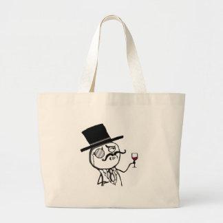 Lulzsec Monocle Guy Jumbo Tote Bag