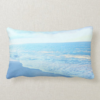 Lumbar Beach Throw Pillow Gorgeous Turquoise Blue