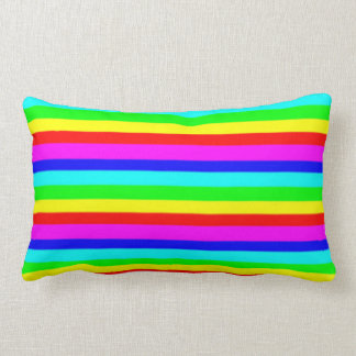 Lumbar Cushion - Horizontal Colour Stripes