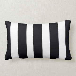 Lumbar Neck Throw Pillows Black & White Stripes