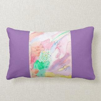 Lumbar pillow  with abstract original design throw cushion