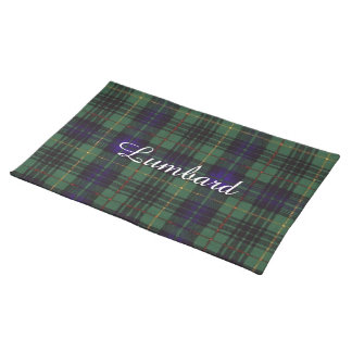 Lumbard clan Plaid Scottish kilt tartan Place Mats