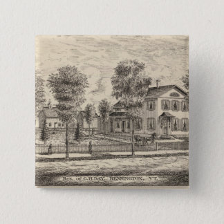 Lumber and Grist Mills in Arlington Vermont 15 Cm Square Badge