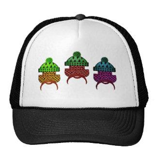 lumber plaid trio mesh hats