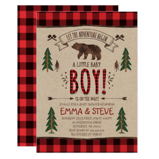 Lumberjack Baby Shower Invitation Lumberjack Party