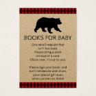 Lumberjack Bear Bring A Book Baby Shower Cards