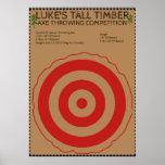 Lumberjack Birthday - Axe Throwing Game Poster