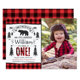 Lumberjack Birthday Invitation Lumberjack Party