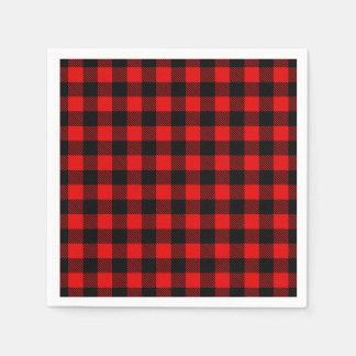Lumberjack Buffalo Plaid Paper Serviettes