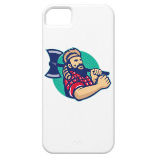 Lumberjack Logger With Axe Retro iPhone 5 Cover