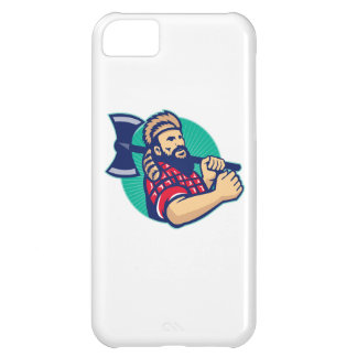 Lumberjack Logger With Axe Retro iPhone 5C Case