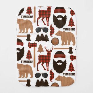 Lumberjack Pattern Burp Cloth