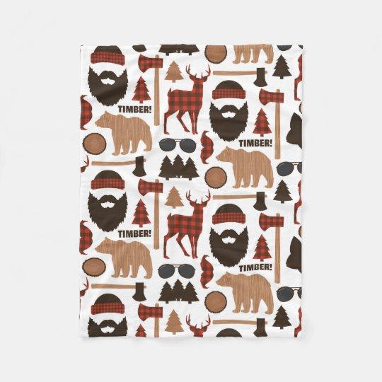 Lumberjack Pattern Fleece Blanket