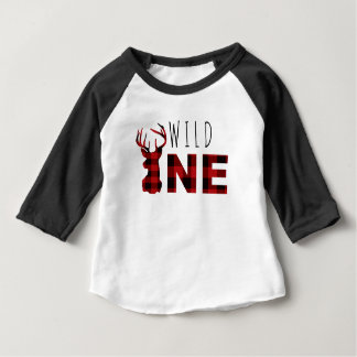 Lumberjack Plaid Wild One | First Birthday Baby T-Shirt
