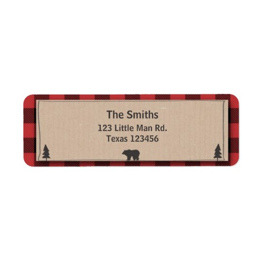 Lumberjack Return Address Label