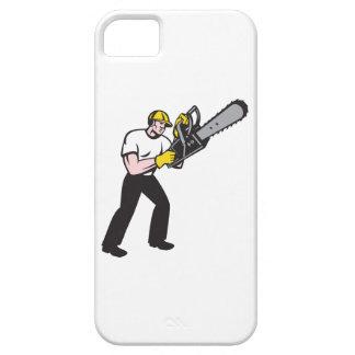 Lumberjack Tree Surgeon Arborist Chainsaw iPhone 5 Cover