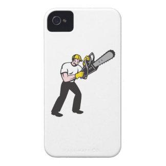 Lumberjack Tree Surgeon Arborist Chainsaw iPhone 4 Cover
