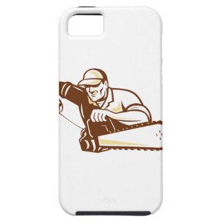 Lumberjack Tree Surgeon Arborist Chainsaw iPhone 5 Covers