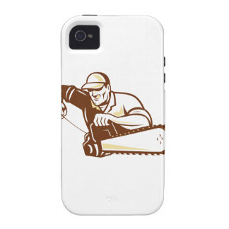 Lumberjack Tree Surgeon Arborist Chainsaw iPhone 4/4S Covers